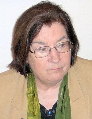 Deutsch: Die Schriftstellerin Christa Wolf wäh...