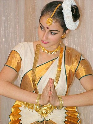 A Keralite Dancer in Sari( Mohini Attam: a dan...