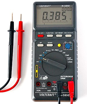This image shows a digital multimeter.