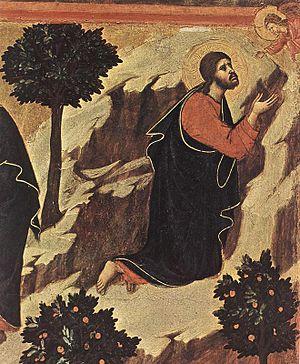 Duccio di Buoninsegna - Agony in the Garden (d...