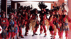 English: Kabasaran War Dance Group. Menado, Mi...