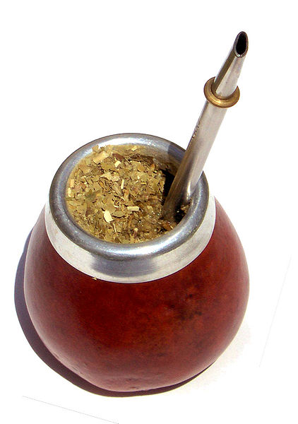 Wikipedia: Mate in a traditional calabash gourd