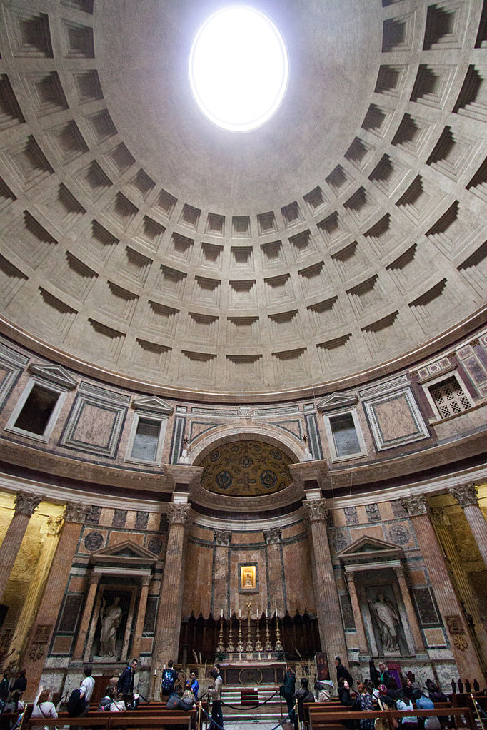 File Pantheon Rome Ceiling 2013 03 07 3 Jpg Wikimedia