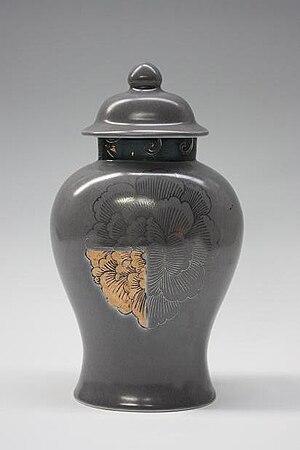 English: peony vase