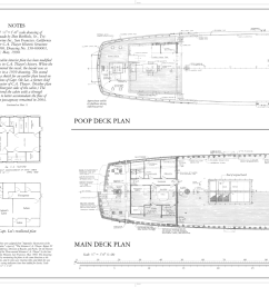 file poop deck plan main deck plan schooner c a thayer hyde street pier san francisco san francisco county ca haer cal 38 sanfra 199 sheet 9 of  [ 1280 x 989 Pixel ]