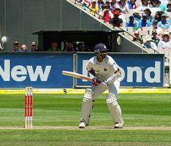 Former Indian captain Rahul Dravid at play.