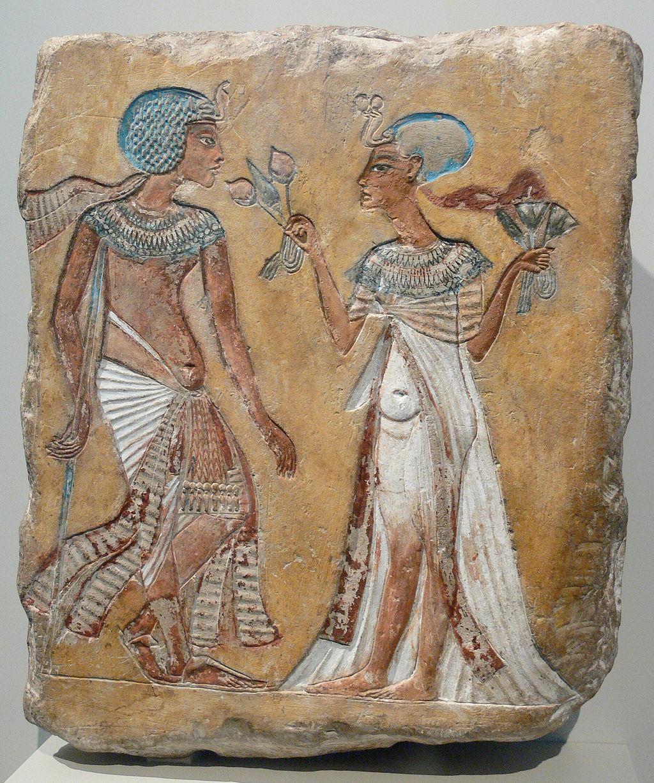 Despite nefertiti's strong character, akhenaten elevated a secondary wife, named kiya, to prominence. Akhenaten And Nefertiti With Their Children Joy Of Museums Virtual Tours