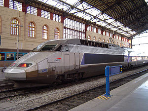 2nd generation TGV train (Réseau tricourant cl...