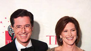 Stephen Colbert and his wife Evelyn McGee-Colb...