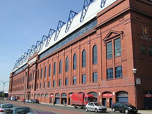 The Bill Struth Main Stand at Ibrox, home of R...