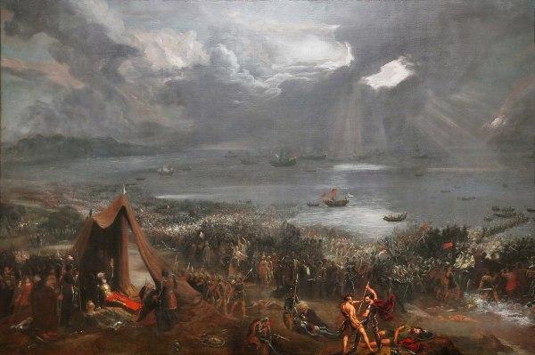 Oil Painting Battle Viking