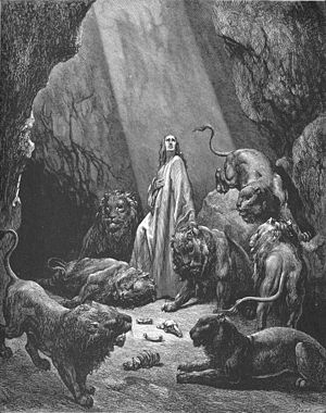 English: Daniel in the Lions' Den (Dan. 6:11-2...