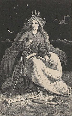 "This engraving shows ""the woman of the mo..."