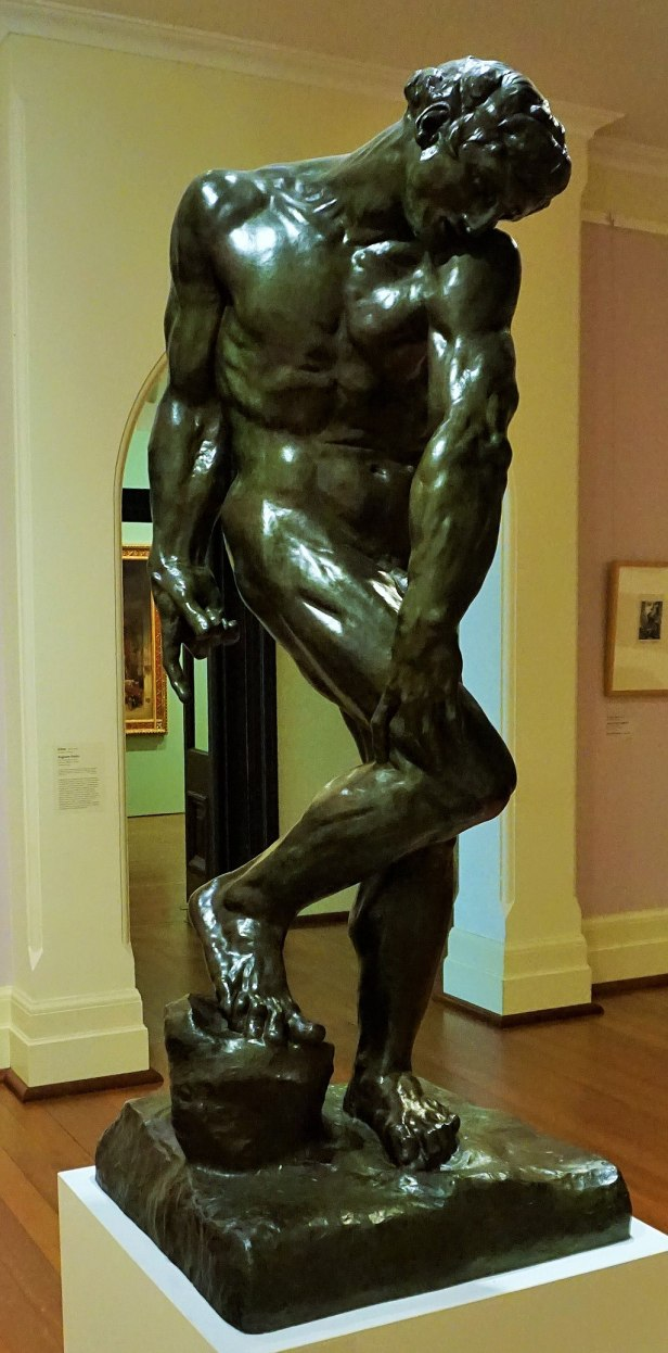 Art Gallery of Western Australia - Joy of Museums - Adam by Auguste Rodin