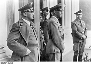 Henlein in Sudetenland with Dr. Wilhelm Frick.