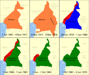 Cameroon over time German Kamerun British Came...