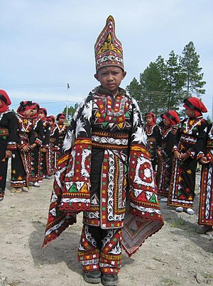 Young boy in Guel dance, Gayo country, Aceh pr...