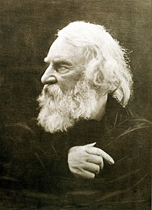 Henry Wadsworth Longfellow photographed by Julia Margaret Cameron in 1868