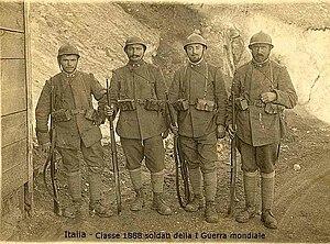 Italiano: Italia I Guerra Mondiale fanti lomba...