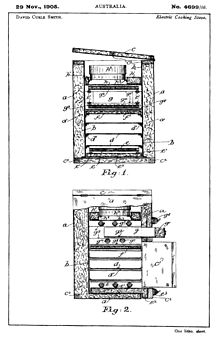 westinghouse oven element wiring diagram human vascular anatomy electric stove wikipedia drawings submitted on 29 november 1905 when david curle smith obtained an australian patent no 4699 05 for his cooking also known as