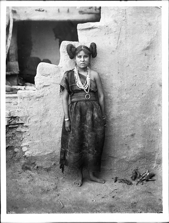 FileMashonga A Hopi Maiden Wearing Rich Silver Ornaments