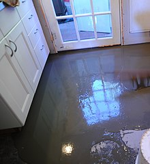 kitchen floor covering tall table and chairs for self-leveling concrete - wikipedia