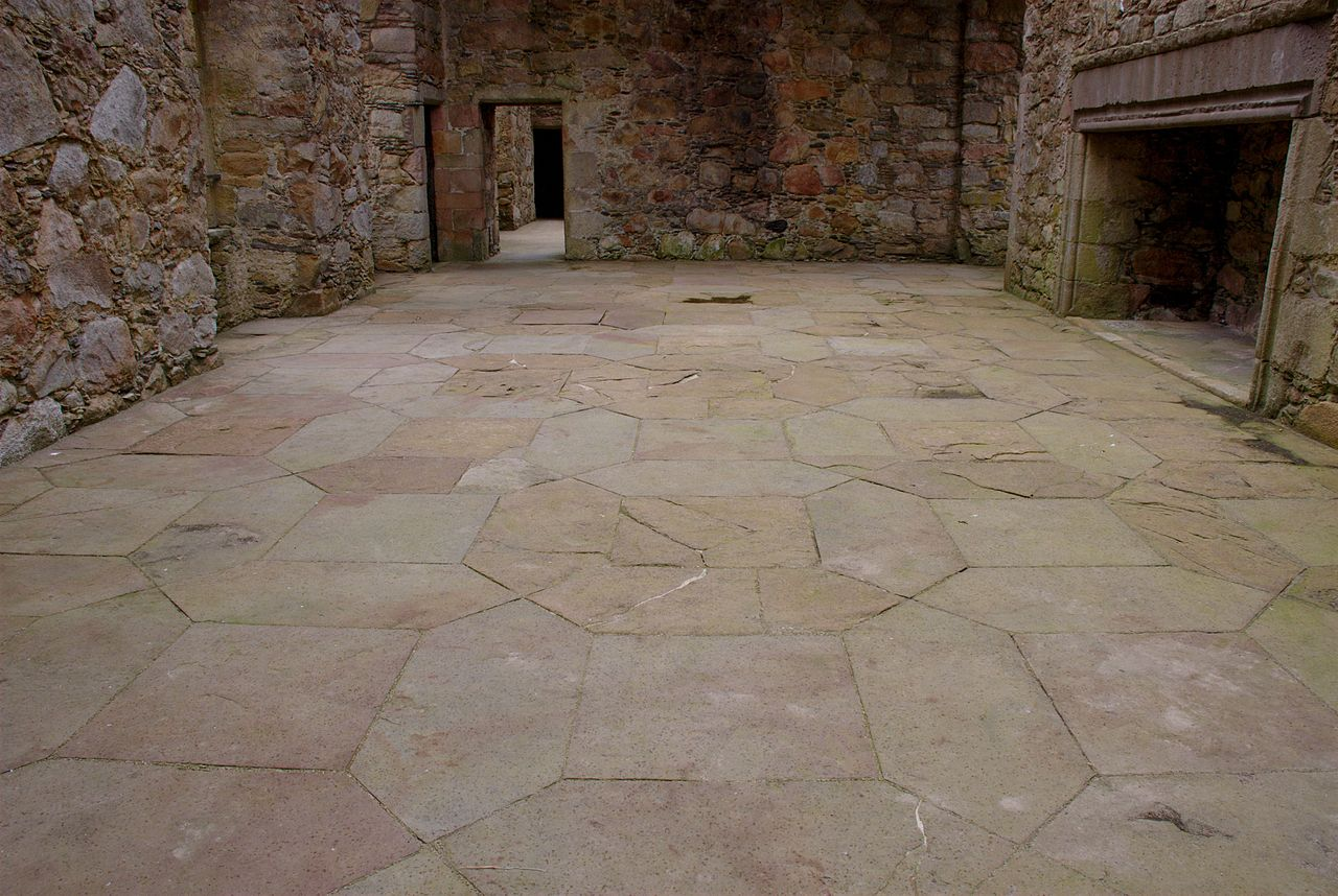 FileTolquhon Castle detail of floor in main halljpg