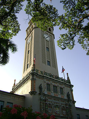 Main tower of the University of Puerto Rico ca...