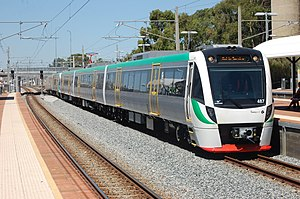 Transperth B-series train at McIver station