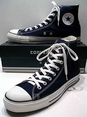A classic Black pair of Converse All-Stars res...