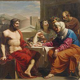 Andrea Appiani (circle) Jupiter und Merkur bei Philemon und Baucis