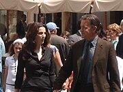 Tom Hanks and Ayelet Zurer