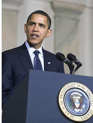President Barack Obama delivering remarks on n...