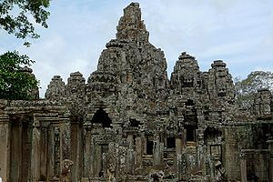 Bayonne temple, Angkor Thom, Siem Reap, Cambod...