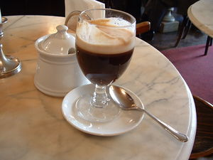 espresso, then chocolate, then heavy frothed c...
