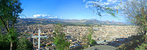 View on Cajamarca (Peru)