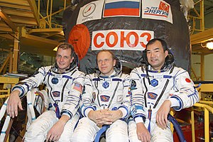 At the Baikonur Cosmodrome in Kazakhstan, Inte...