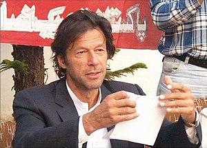 Imran Khan tearing his nomination paper at a p...