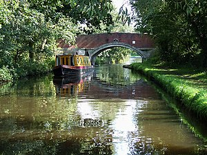 English: Long Moll's Bridge, Staffordshire and...