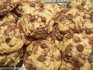 More chocolate chip cookies with swirls