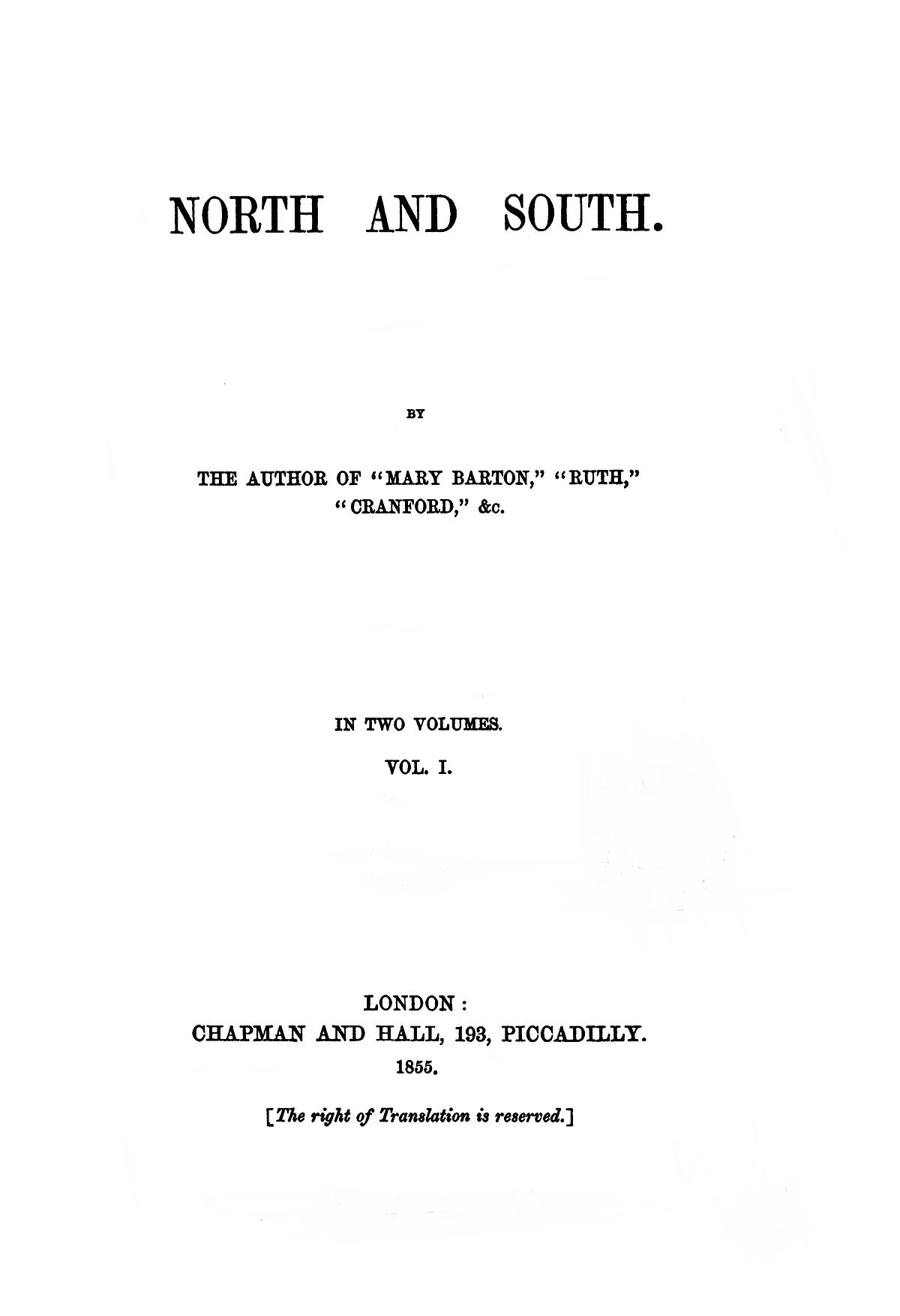 North and South Gaskell novel  Wikipedia