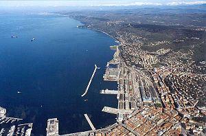 Port of Trieste: the Porto Vecchio, also showi...