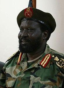 Salva Kiir Mayardit in military uniform