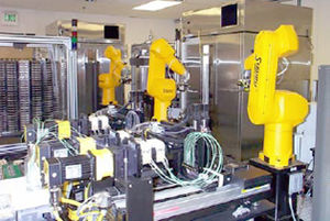 Robots used for the high-throughput screening ...