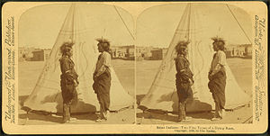 Sioux Indians. Two fine types of a dying race,...
