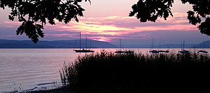 "Sunset at Lake Constance, near ""Uhldingen..."