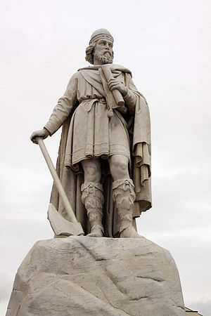 English: Statue of King Alfred in Wantage, England