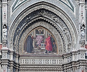 The 19th century gothic revival mosaic of the ...