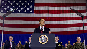 President Barack Obama speaks at Camp Lejeune,...