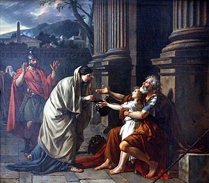 Belisaire demandant l'aumone Jacques-Louis de ...